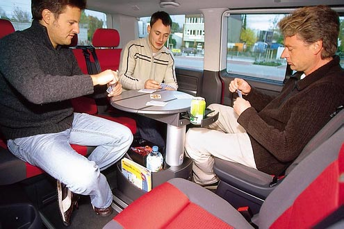 jeu de cartes en multivan confort